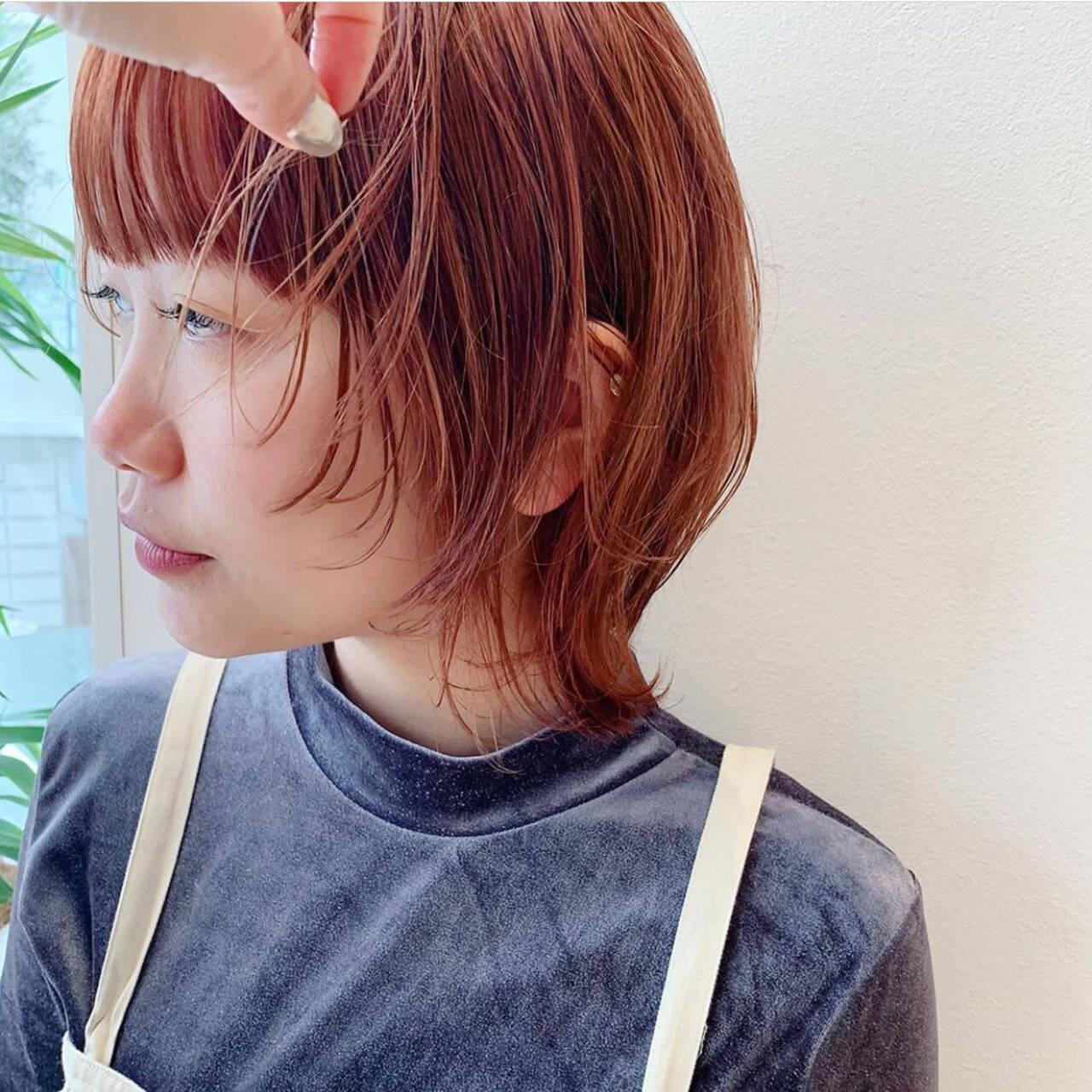 ウルフ ナチュラル ウルフカット ショートヘアスタイルや髪型の写真・画像