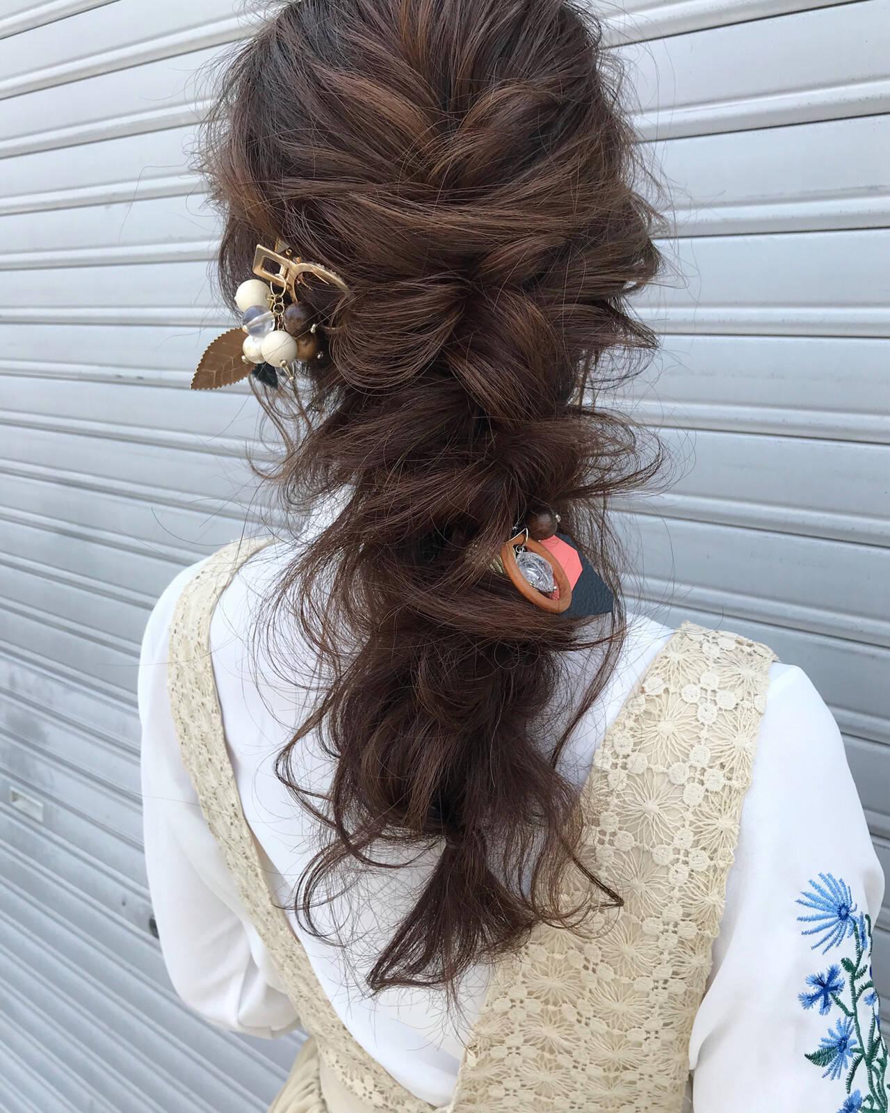 成人式 ナチュラル 結婚式 ロングヘアスタイルや髪型の写真・画像