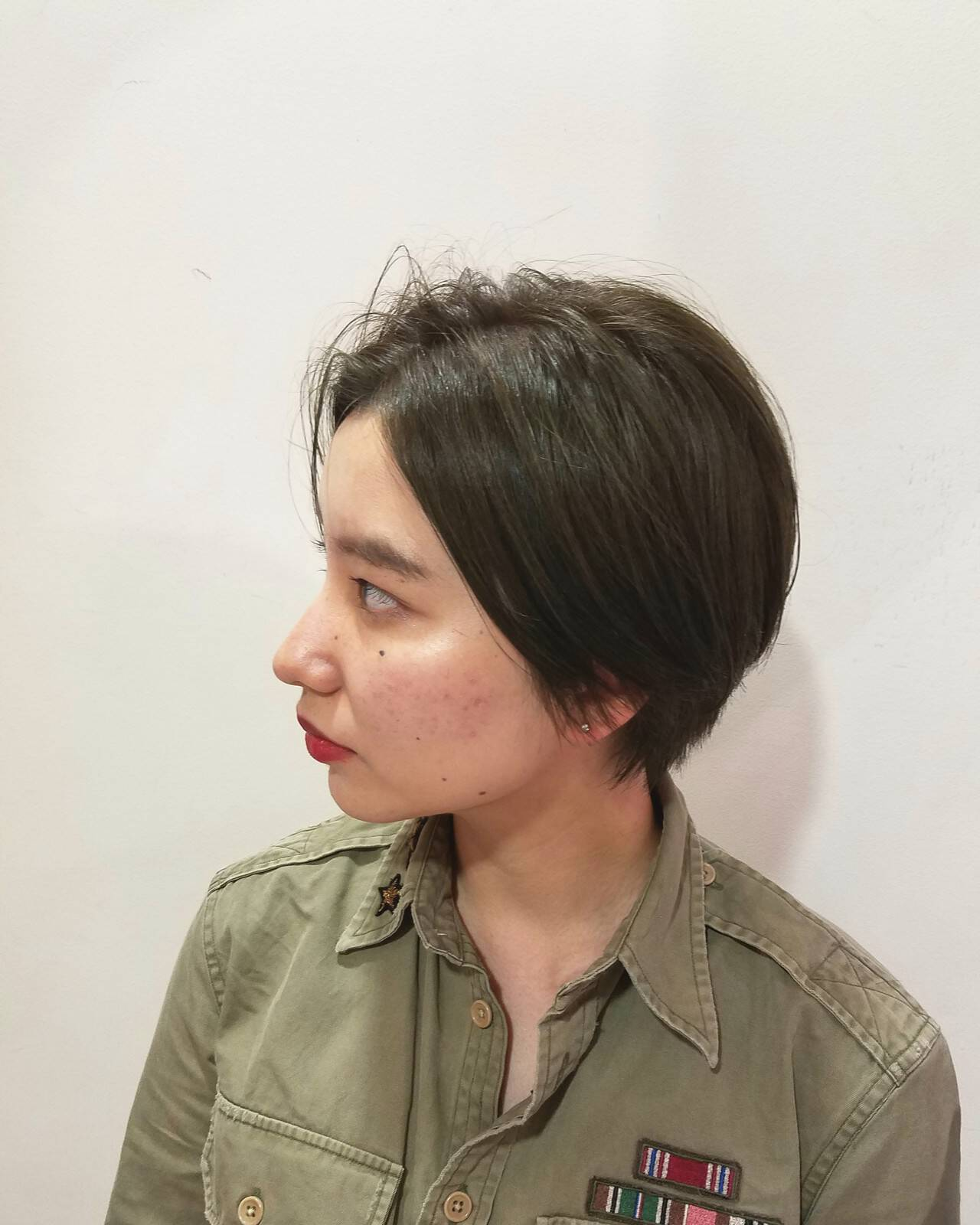 N.オイル ハンサムショート マットグレージュ ショートヘアスタイルや髪型の写真・画像