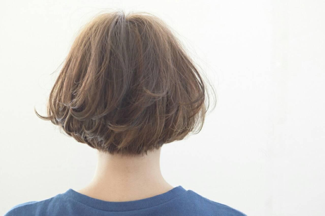 簡単 ショート ショートボブ パーマヘアスタイルや髪型の写真・画像