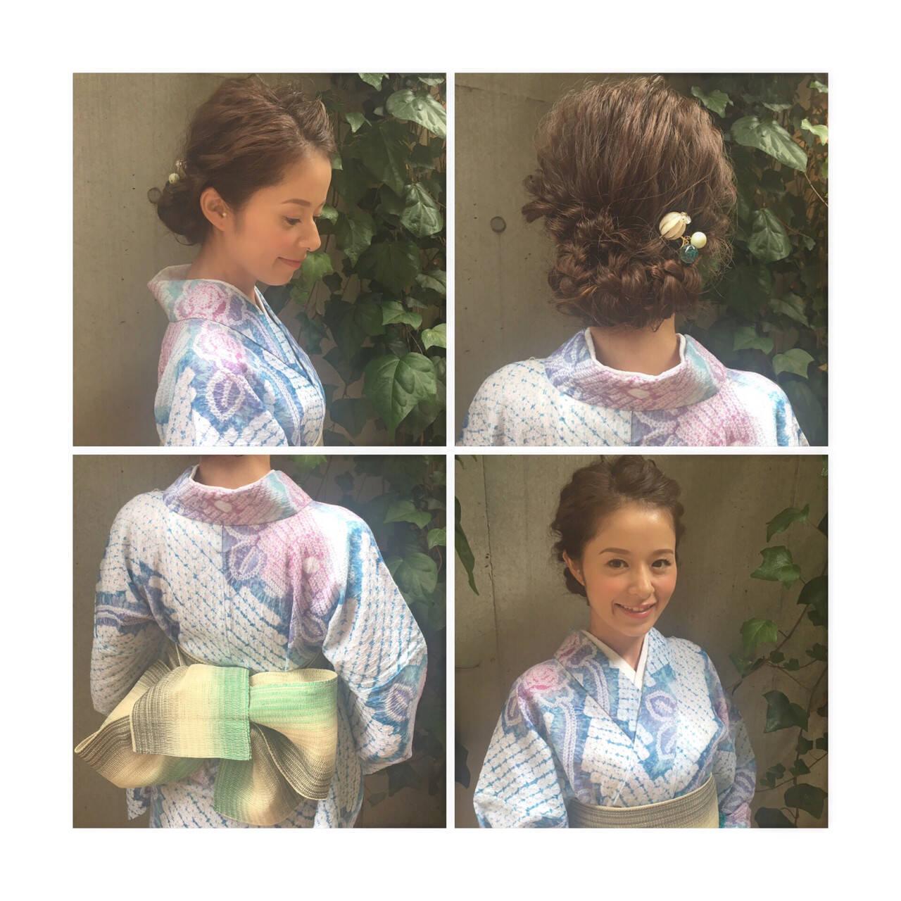 花火大会 ヘアアレンジ 夏 ショートヘアスタイルや髪型の写真・画像