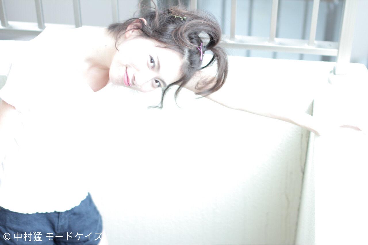 ガーリー ナチュラル ヌーディーベージュ ボブヘアスタイルや髪型の写真・画像