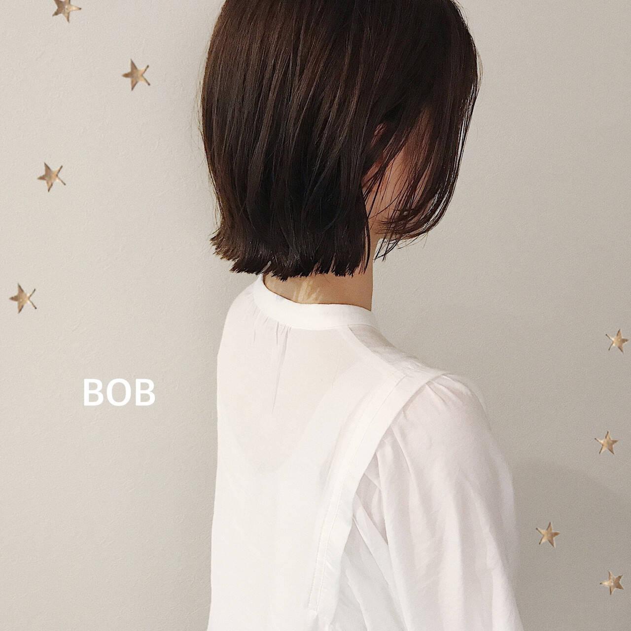 ナチュラル ショートボブ ボブ ミニボブヘアスタイルや髪型の写真・画像