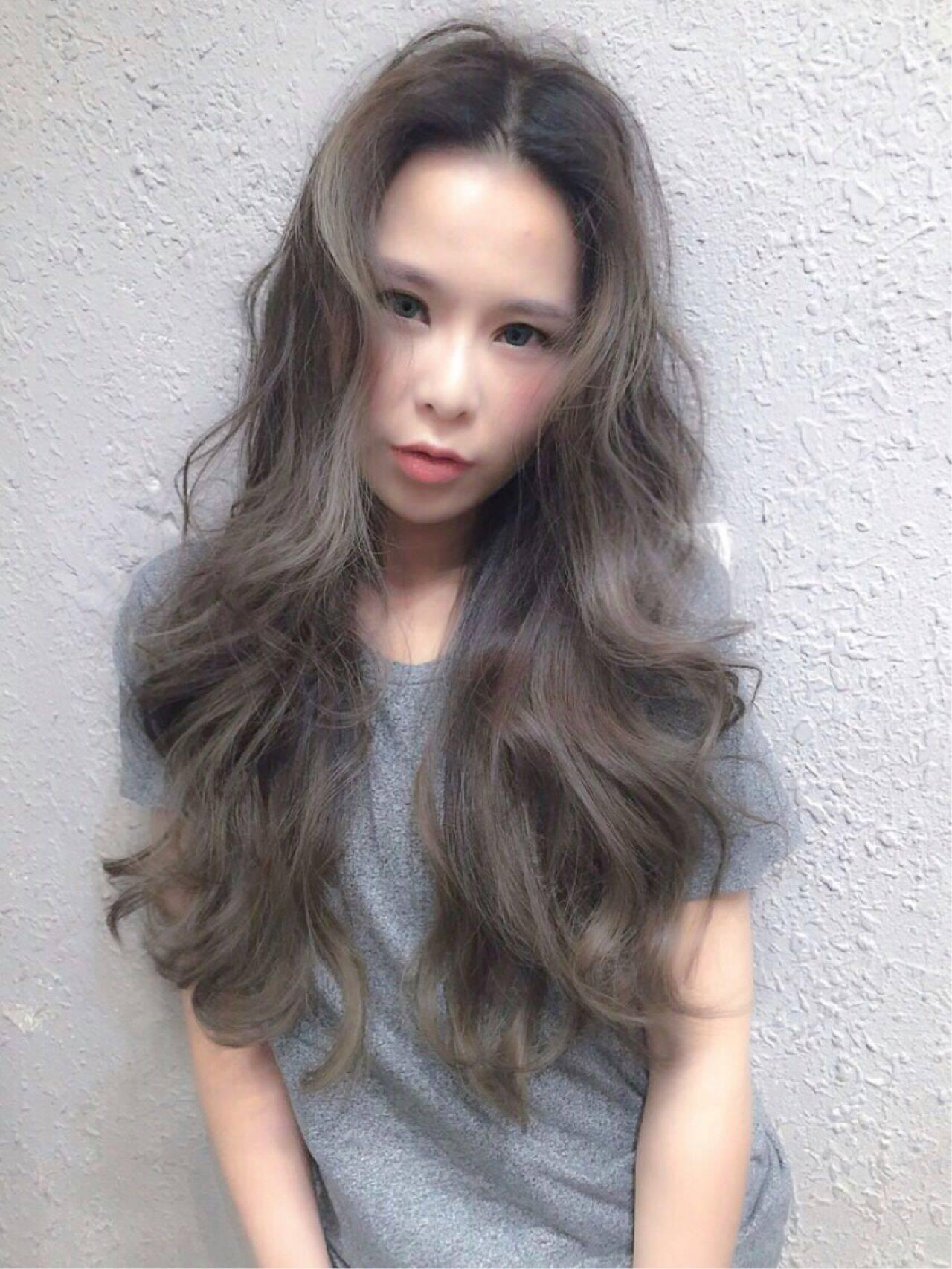 暗髪 ナチュラル ロング ショートヘアスタイルや髪型の写真・画像