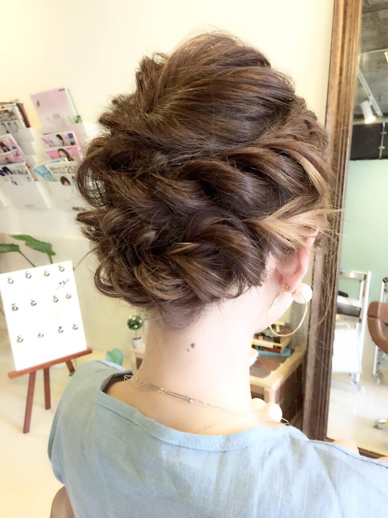 ヘアアレンジ 小顔 アウトドア 女子会ヘアスタイルや髪型の写真・画像