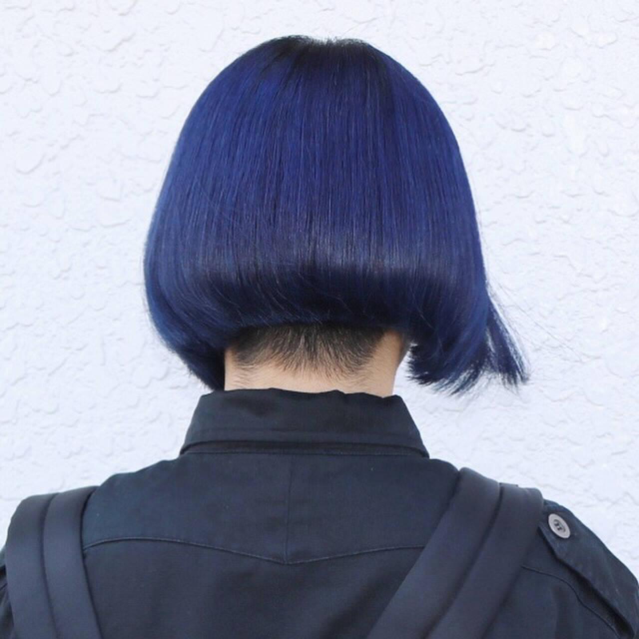 坊主 アッシュ ダブルカラー ブルージュヘアスタイルや髪型の写真・画像