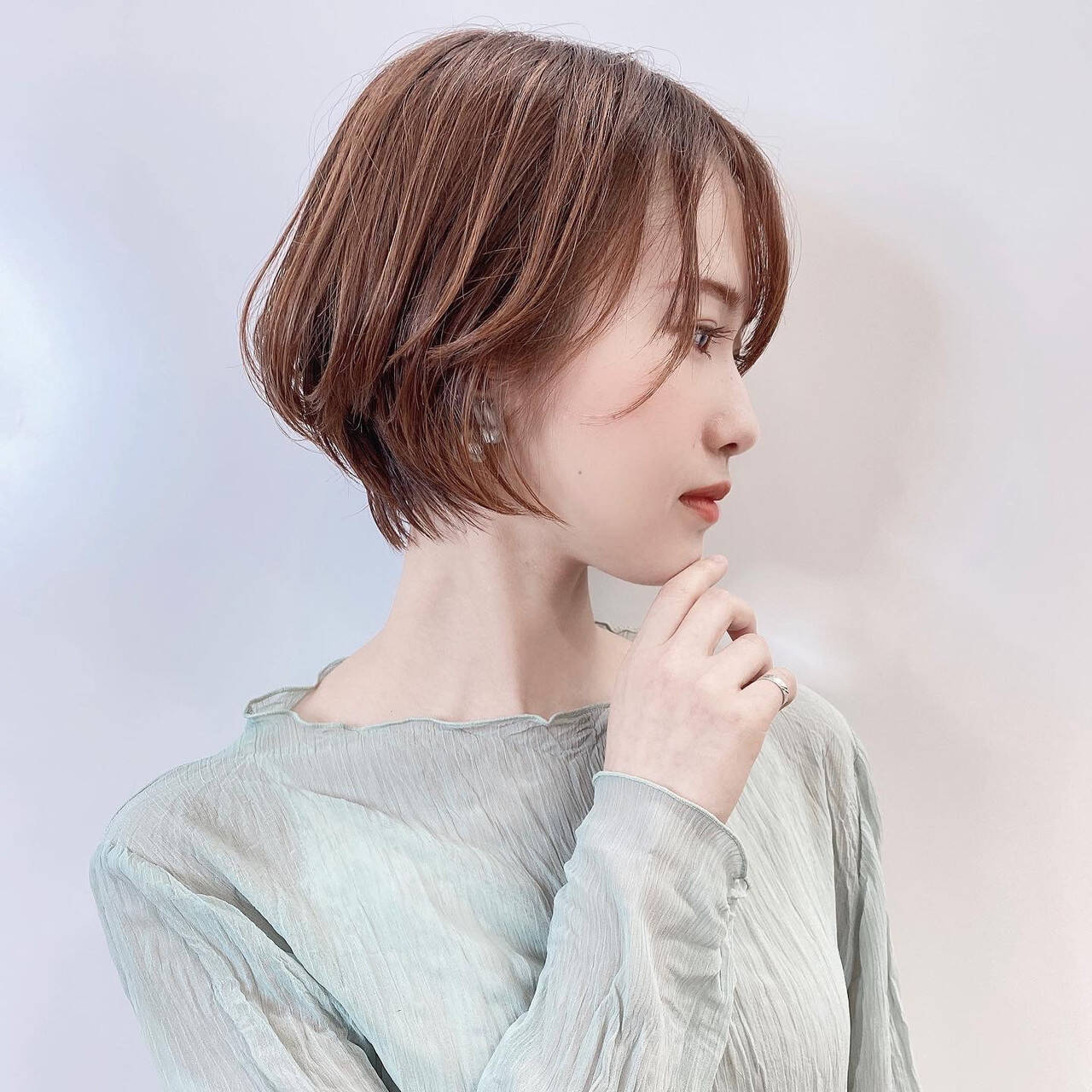 ショートボブ ミニボブ ナチュラル ショートヘアヘアスタイルや髪型の写真・画像