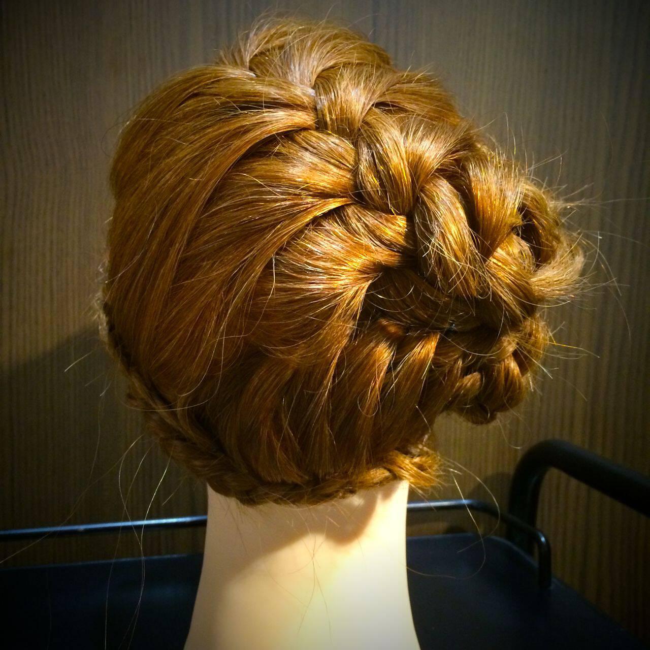 モテ髪 コンサバ 夏 編み込みヘアスタイルや髪型の写真・画像