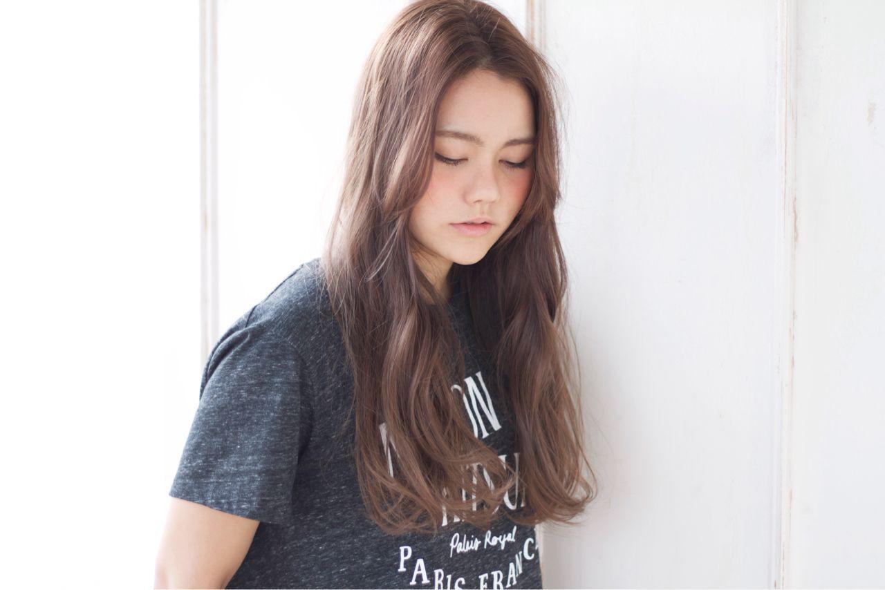 外国人風 ノームコア モード ロングヘアスタイルや髪型の写真・画像