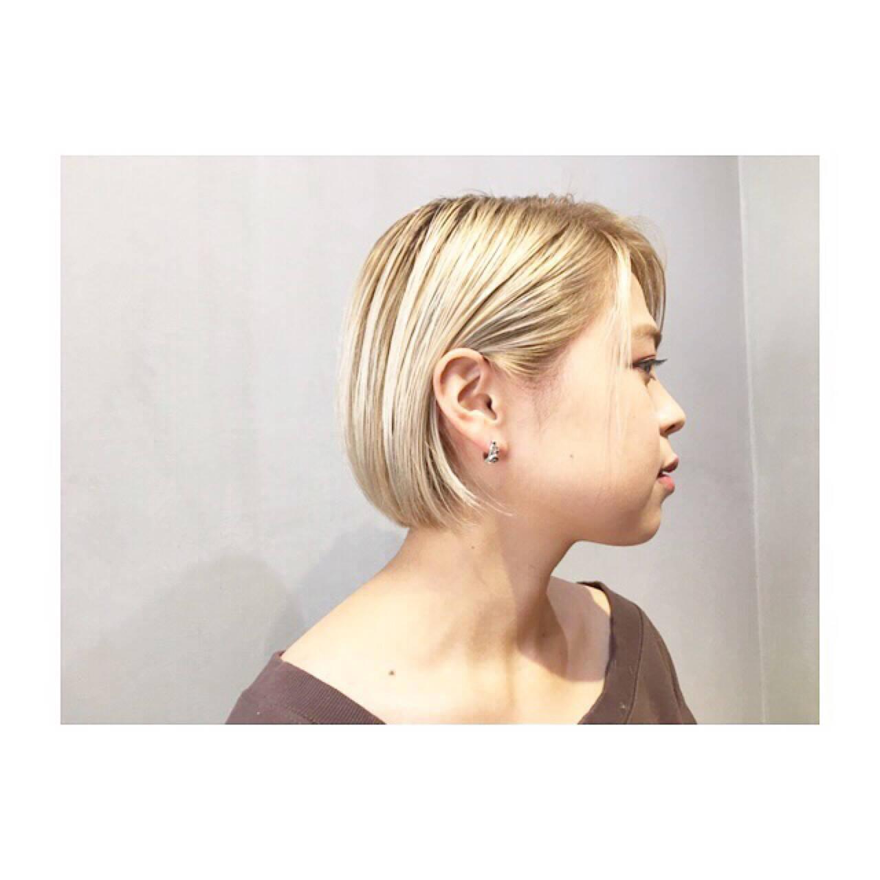 ブルージュ ボブ ネイビー ブルーヘアスタイルや髪型の写真・画像