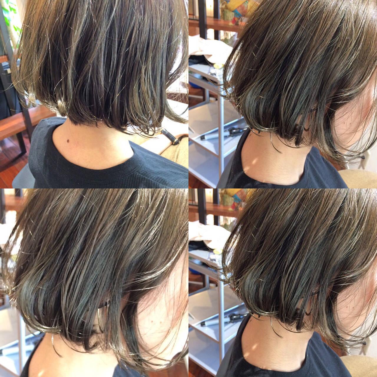 アッシュ ストリート 色気 暗髪ヘアスタイルや髪型の写真・画像