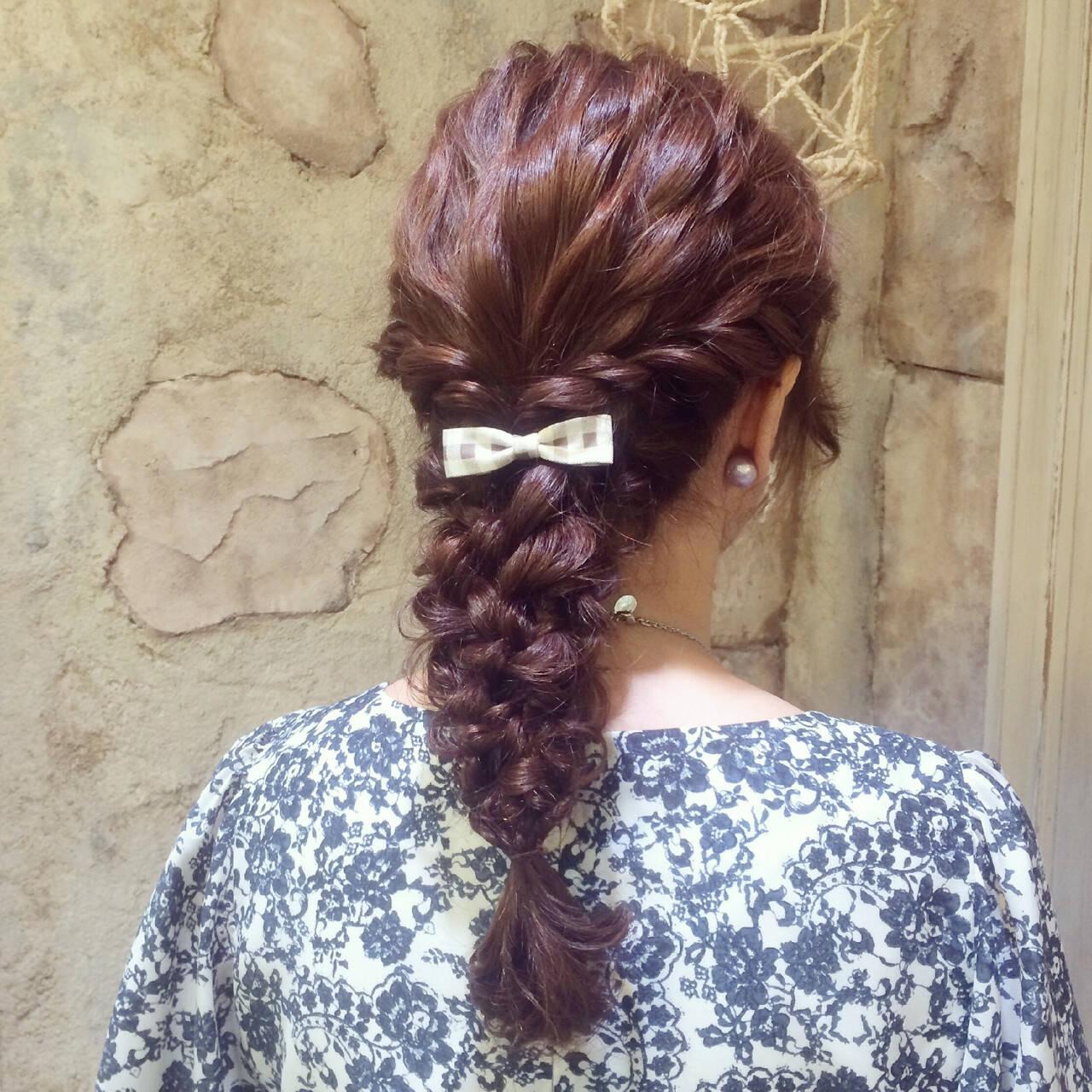 パーティ 波ウェーブ ヘアアレンジ ロングヘアスタイルや髪型の写真・画像