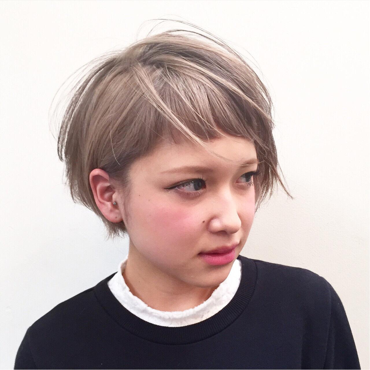 グラデーションカラー ストリート ピュア ハイライトヘアスタイルや髪型の写真・画像