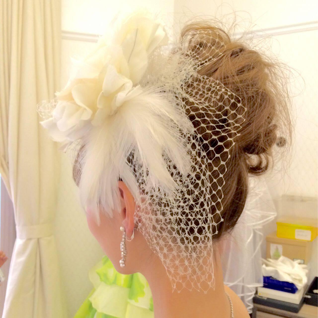 ヘアアレンジ ブライダル コンサバ 結婚式ヘアスタイルや髪型の写真・画像