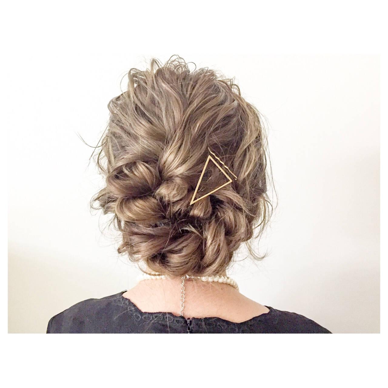 ルーズ ヘアアレンジ ミディアム 簡単ヘアアレンジヘアスタイルや髪型の写真・画像