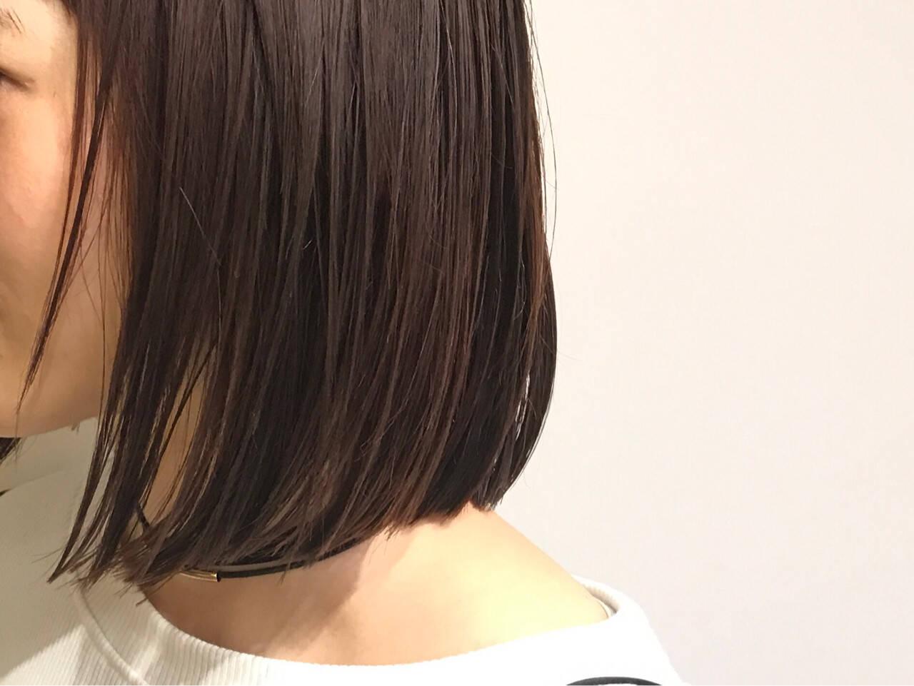 モード ナチュラル 大人女子 ワンレングスヘアスタイルや髪型の写真・画像