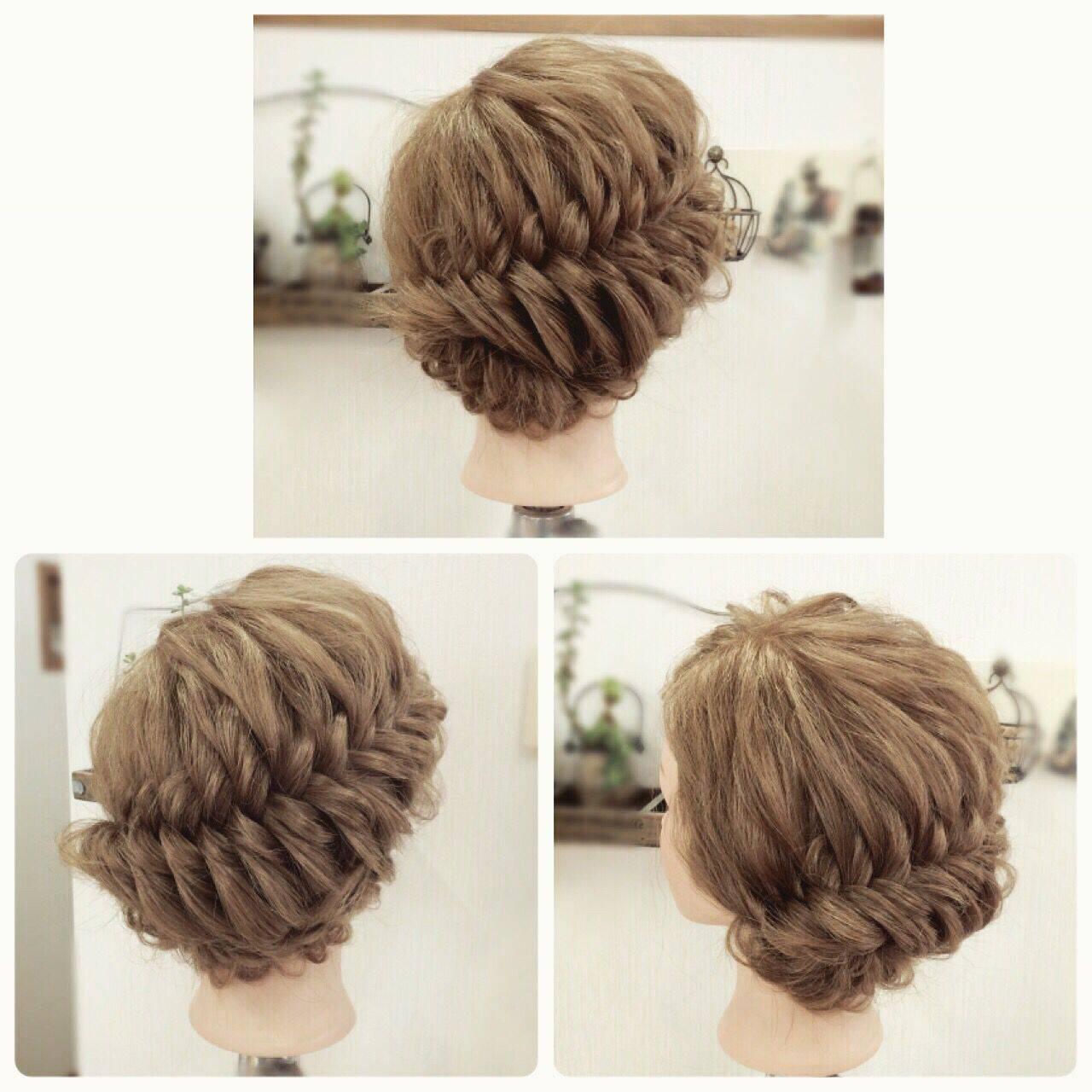 フィッシュボーン パーティ 編み込み ロングヘアスタイルや髪型の写真・画像