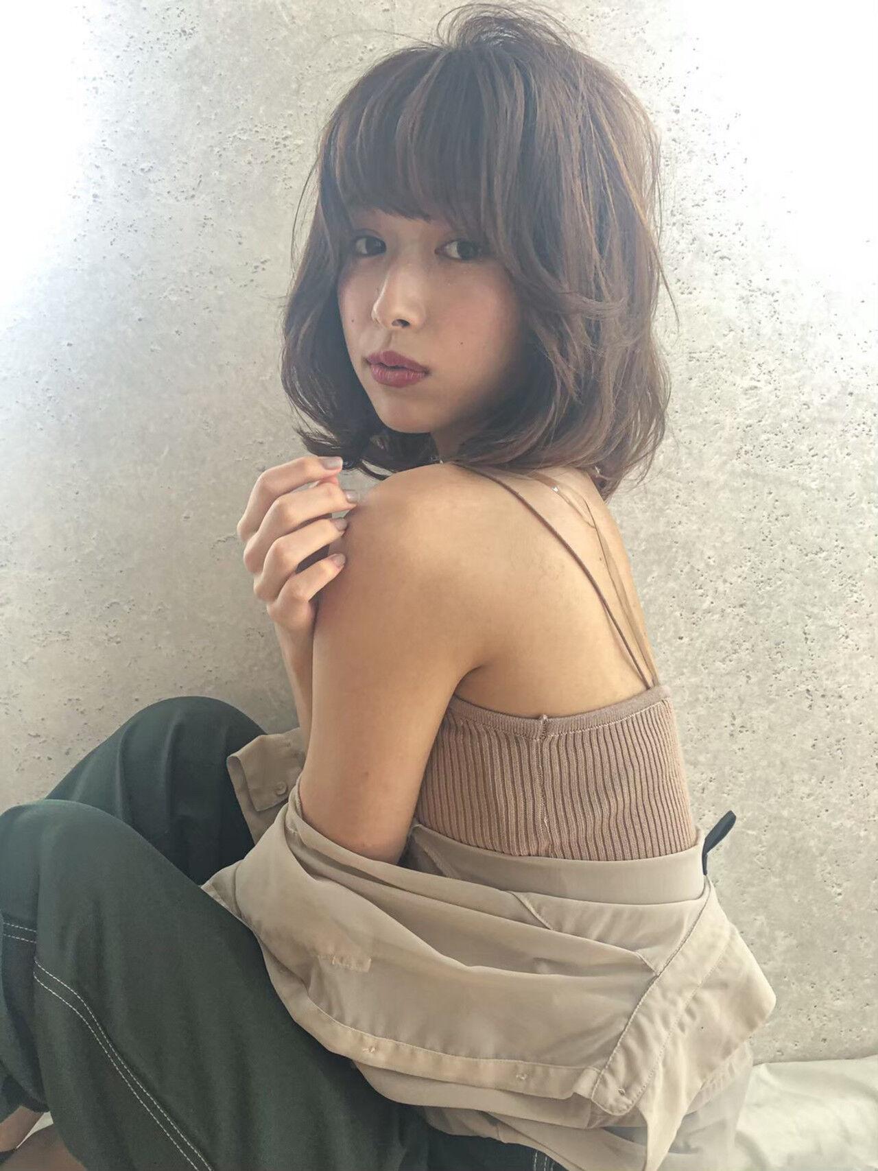 透明感カラー フェミニン デート モテ髪ヘアスタイルや髪型の写真・画像