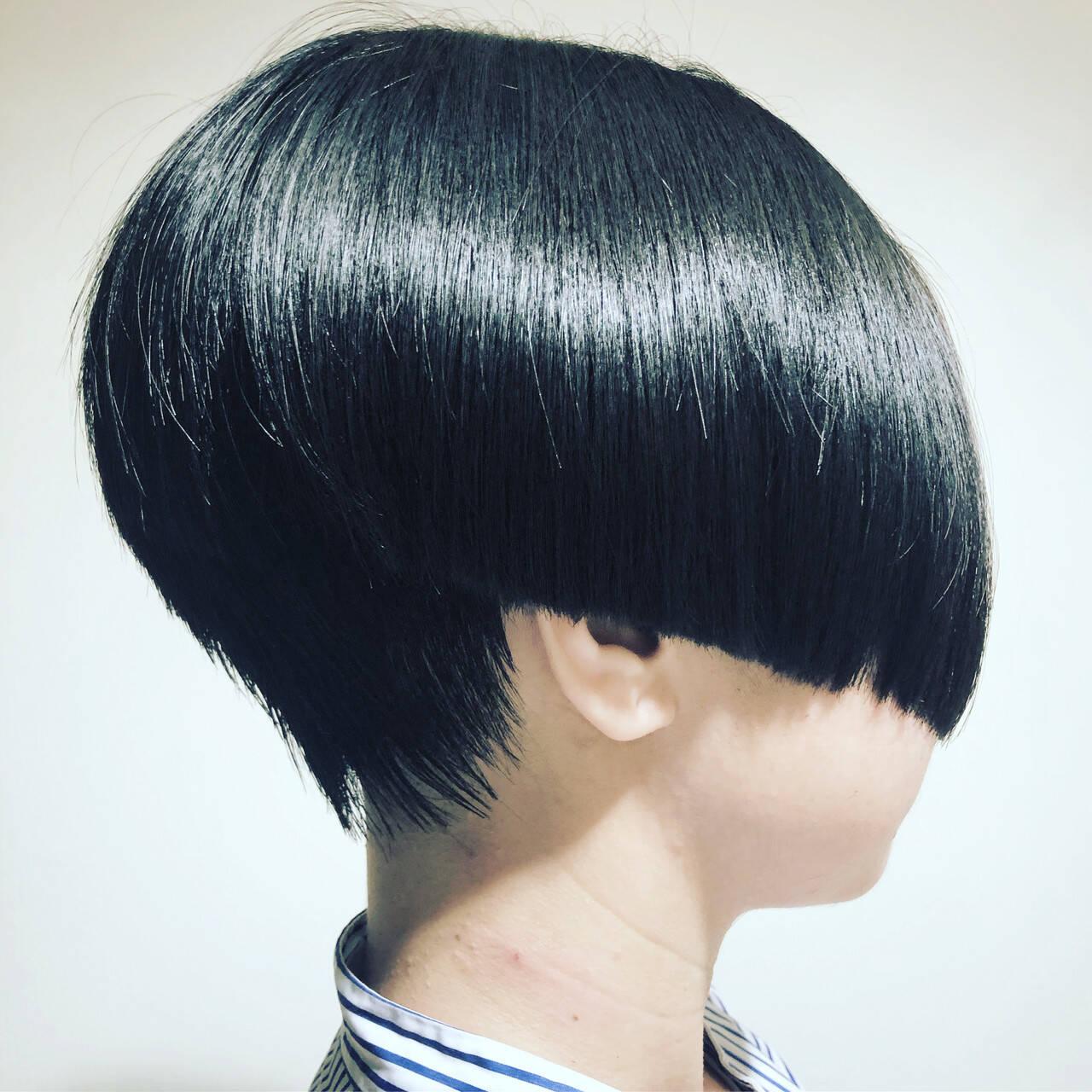 ショートボブ コンサバ ボブ ショートヘアヘアスタイルや髪型の写真・画像