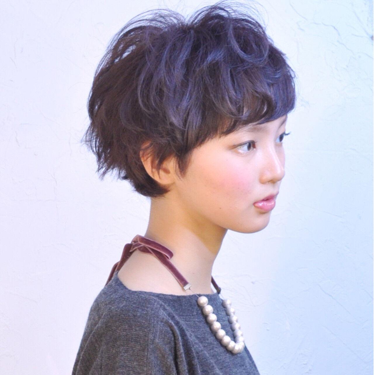 ストリート 外国人風 暗髪 大人かわいいヘアスタイルや髪型の写真・画像