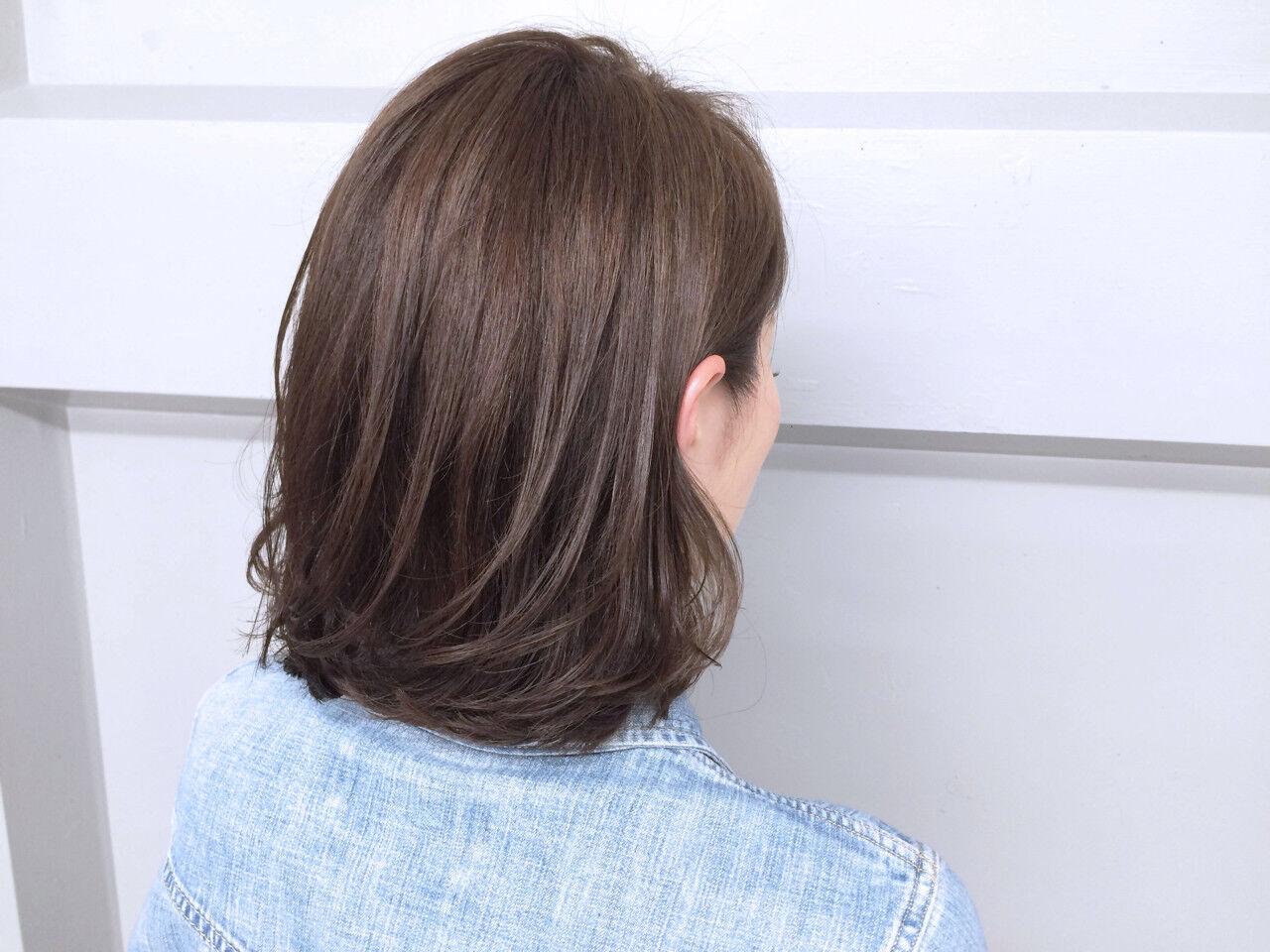 グラデーションカラー ハイライト アッシュ ボブヘアスタイルや髪型の写真・画像