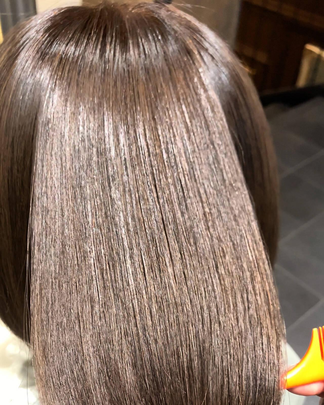 ボブ 髪質改善トリートメント 最新トリートメント ナチュラルヘアスタイルや髪型の写真・画像