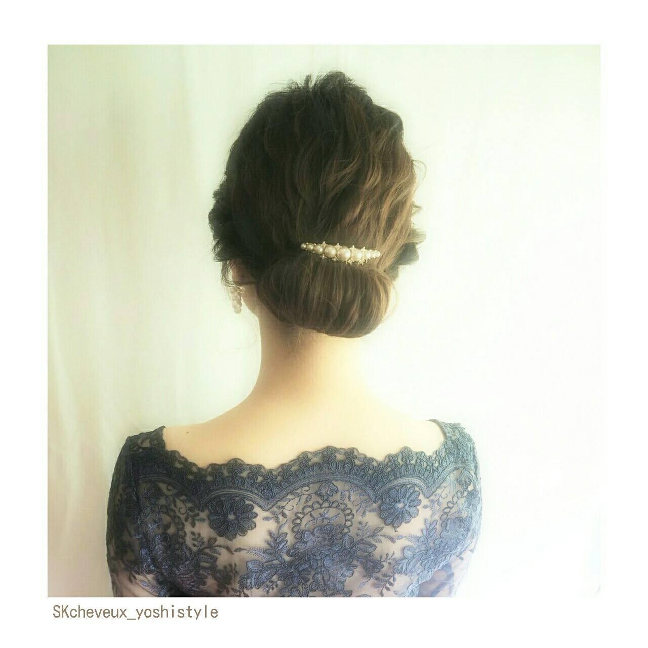 ヘアアレンジ フェミニン ミディアム 大人かわいいヘアスタイルや髪型の写真・画像