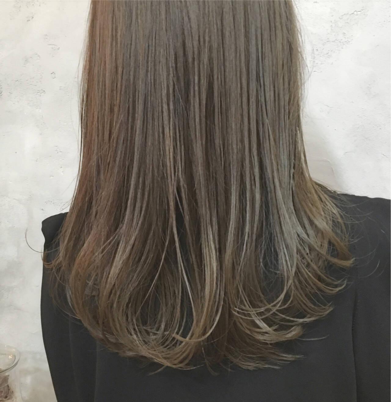 セミロング 女子会 ワンカール 暗髪ヘアスタイルや髪型の写真・画像