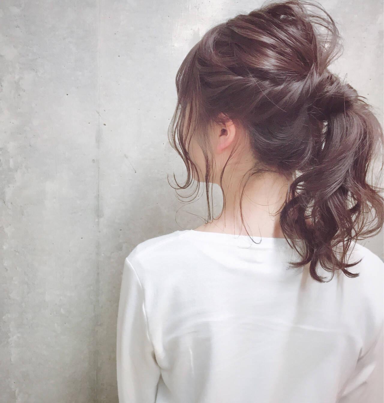 ナチュラル セミロング 冬 ヘアアレンジヘアスタイルや髪型の写真・画像