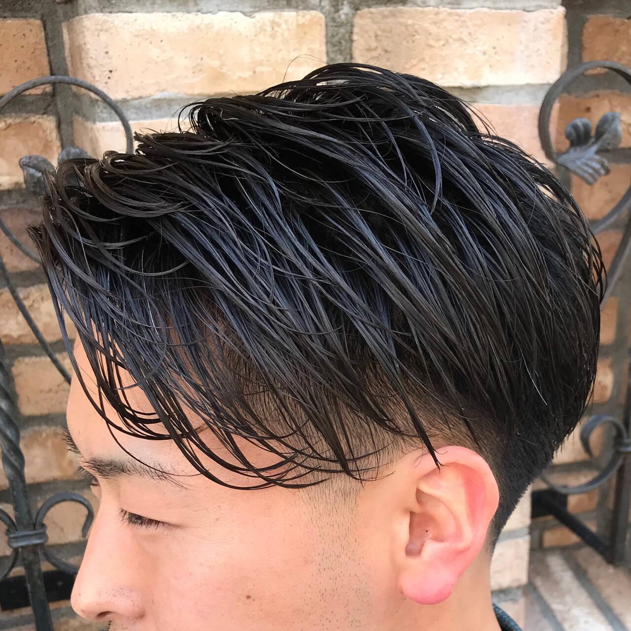 ナチュラル 刈り上げ メンズ 刈り上げショートヘアスタイルや髪型の写真・画像