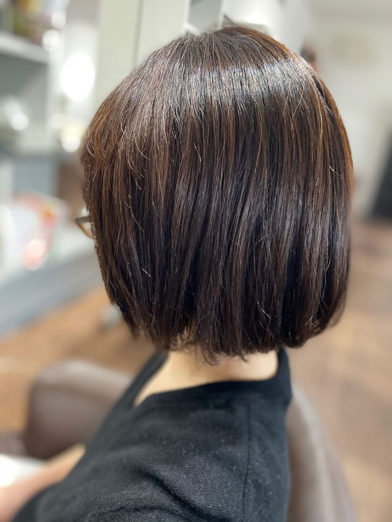 ボブ 切りっぱなしボブ デジタルパーマ ショートヘアヘアスタイルや髪型の写真・画像
