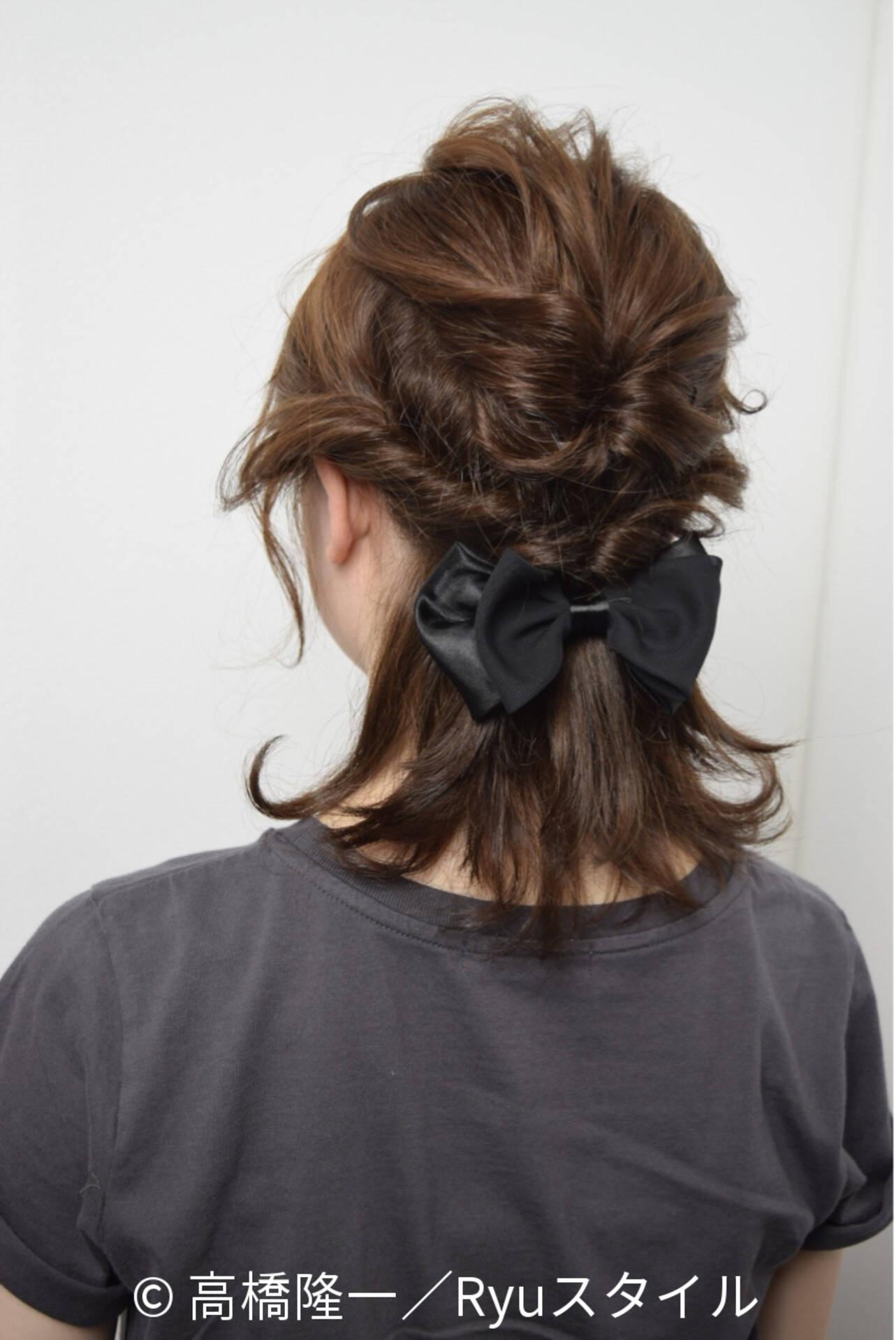 外国人風 ストリート 簡単ヘアアレンジ ブラウンヘアスタイルや髪型の写真・画像
