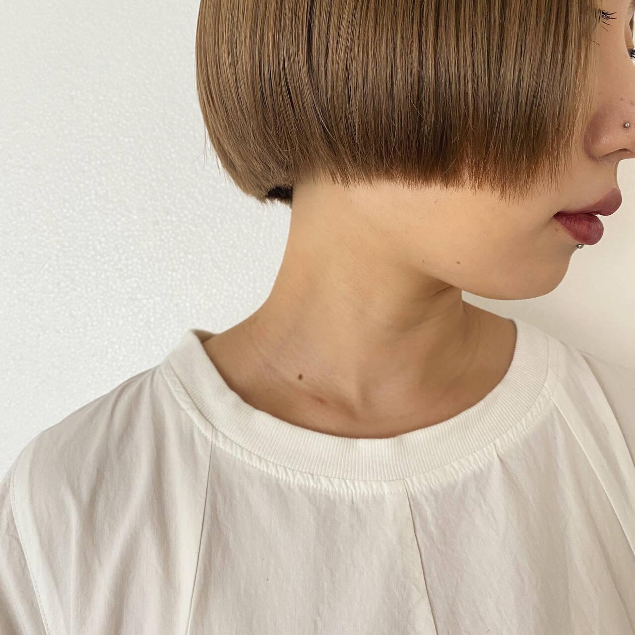 ショートヘア ベリーショート ミニボブ ショートボブヘアスタイルや髪型の写真・画像