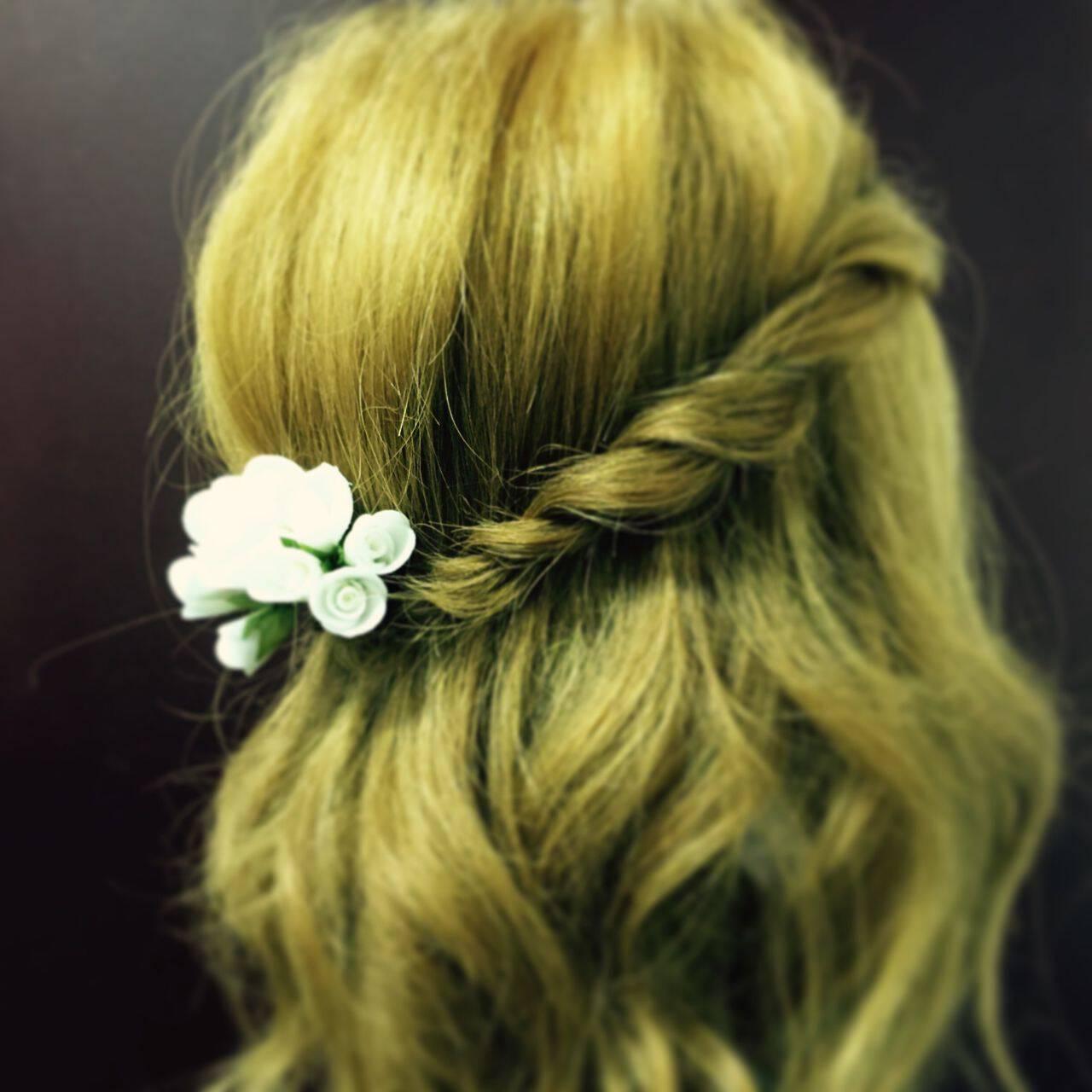 ヘアアレンジ 簡単ヘアアレンジヘアスタイルや髪型の写真・画像
