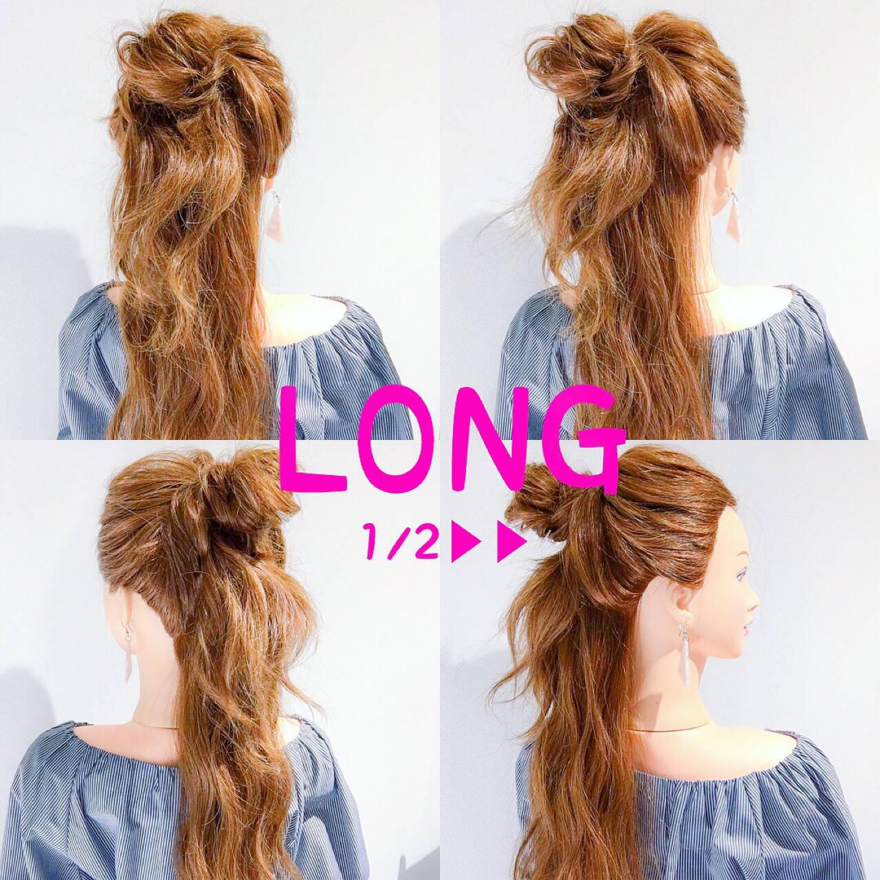 ヘアアレンジ ロング アウトドア ショートヘアスタイルや髪型の写真・画像