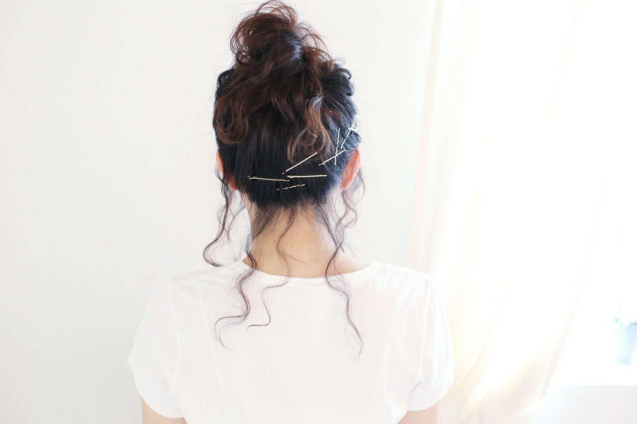 黒髪 ショート フェミニン ナチュラルヘアスタイルや髪型の写真・画像