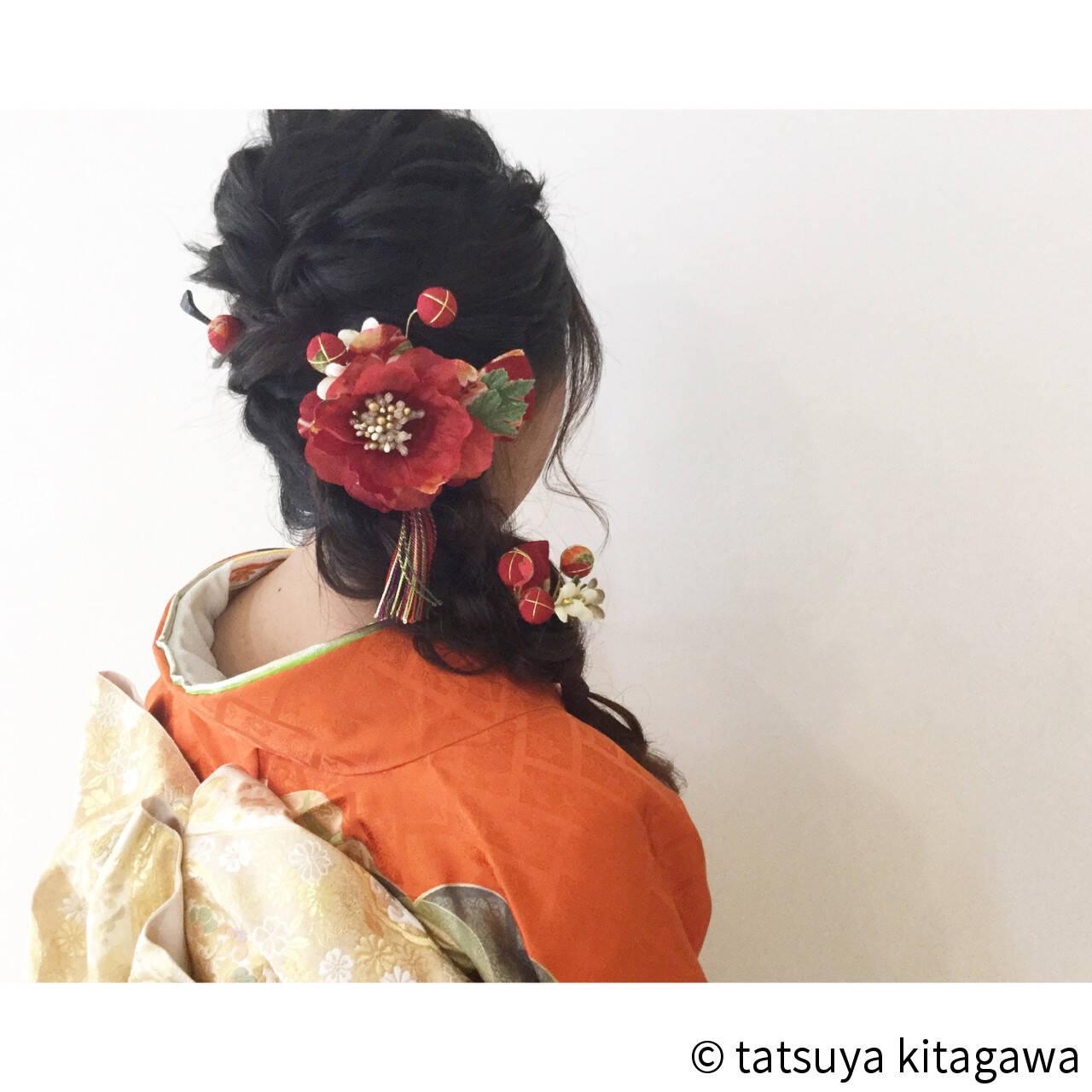 ヘアアレンジ 花嫁 結婚式 振袖ヘアスタイルや髪型の写真・画像