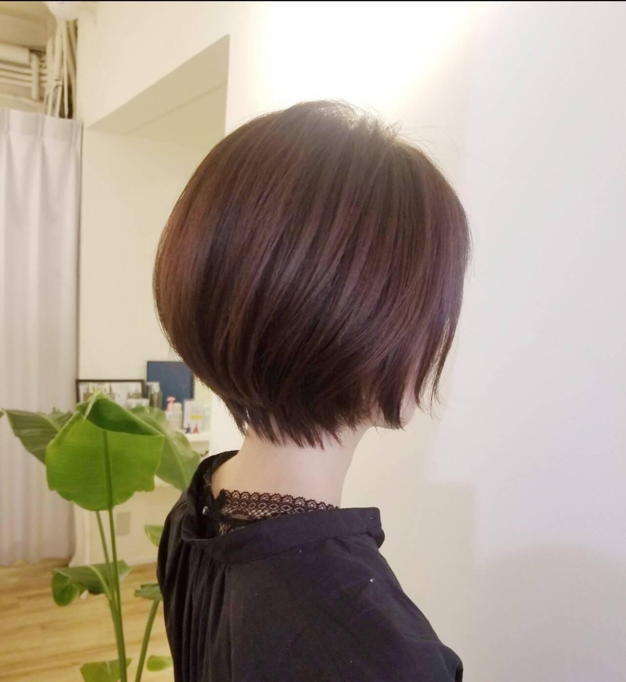 ナチュラル ショート ヘアカット 小顔ショートヘアスタイルや髪型の写真・画像