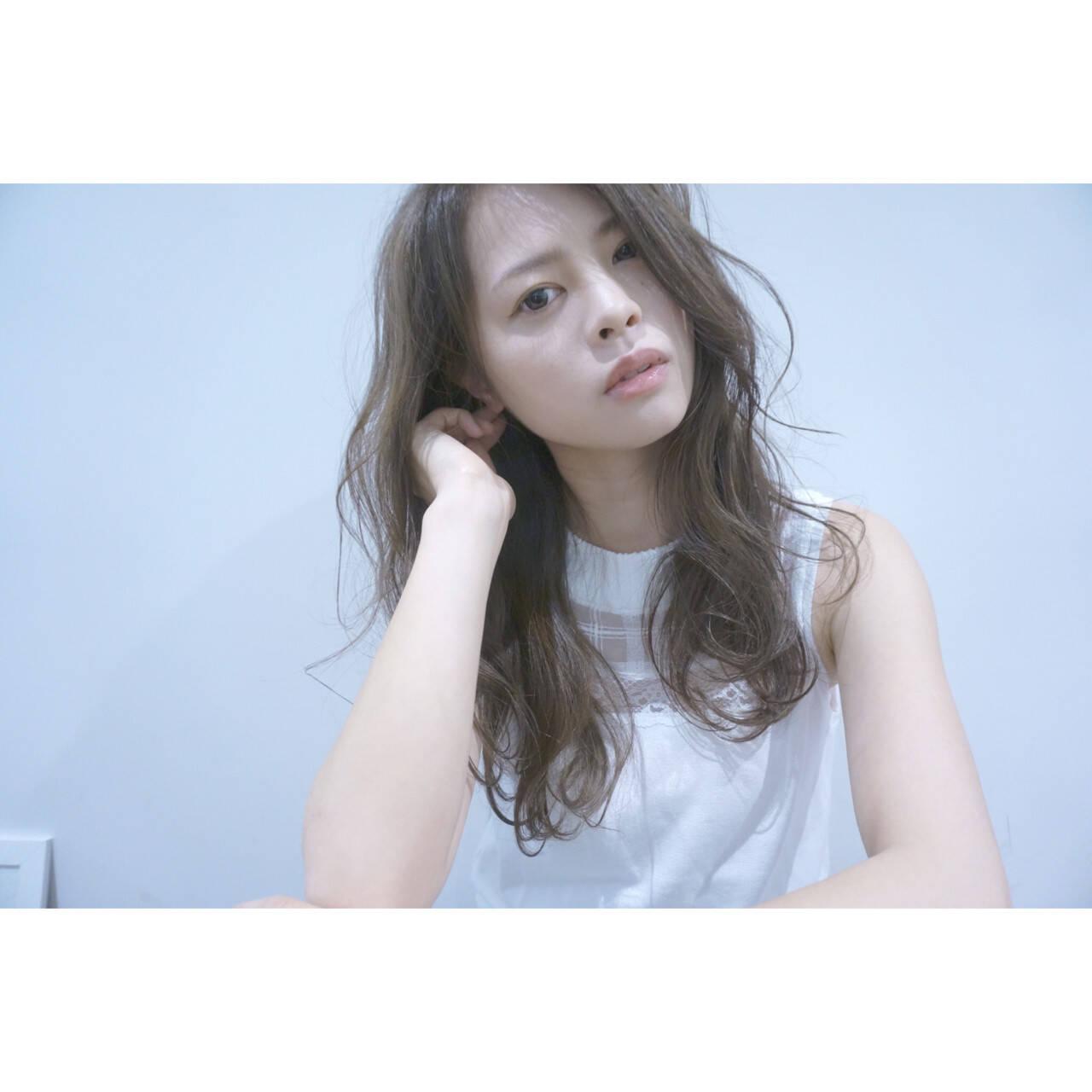 透明感 ロング ブラウン 外国人風ヘアスタイルや髪型の写真・画像