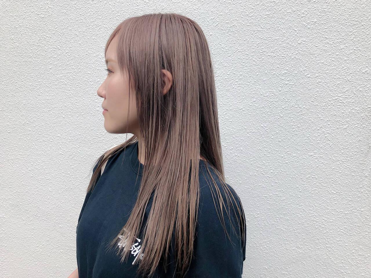 ミルクティーベージュ ストリート ミルクティー ハイトーンヘアスタイルや髪型の写真・画像