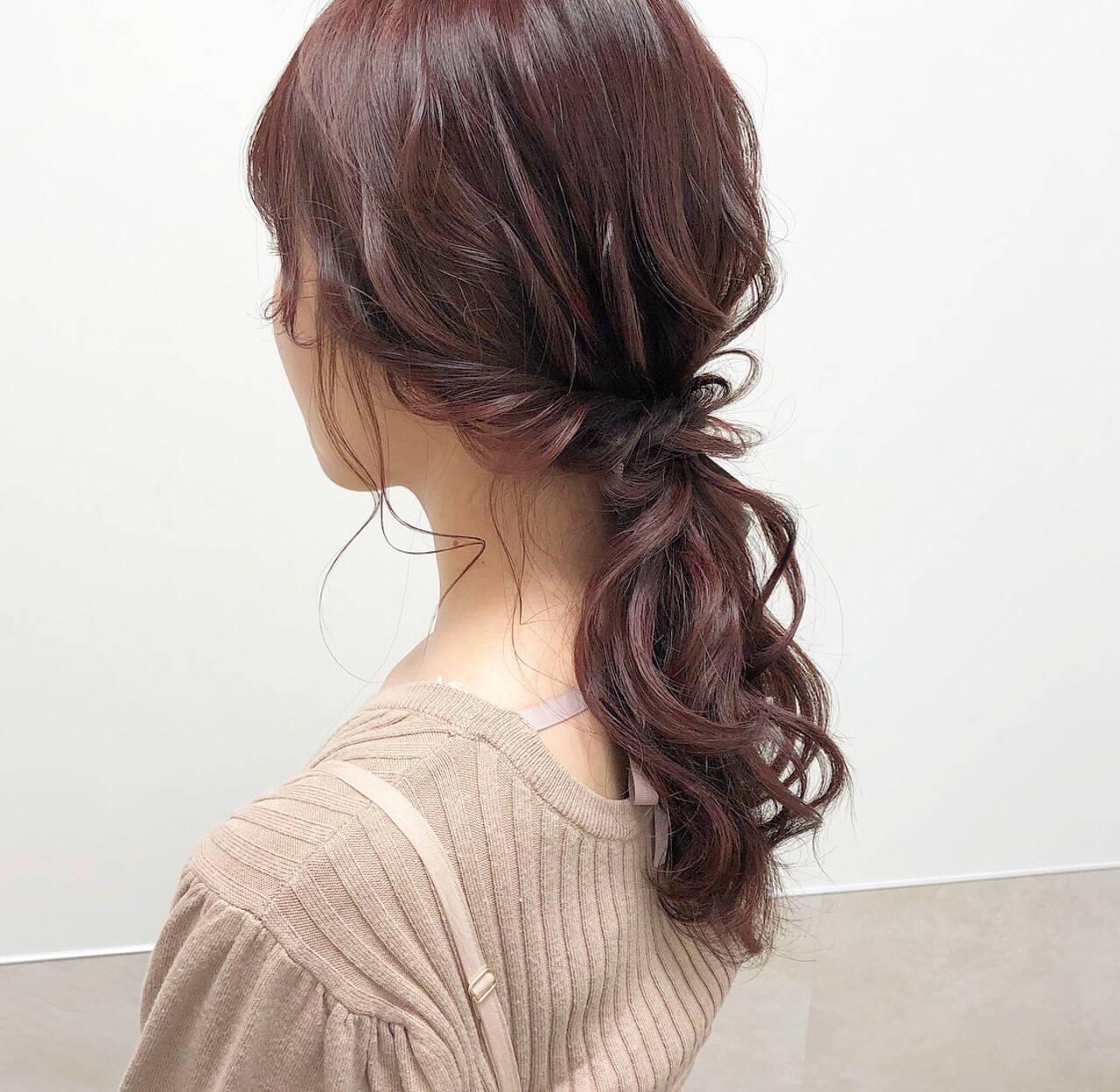 ナチュラル ヘアアレンジ ポニーテール 大人可愛いヘアスタイルや髪型の写真・画像