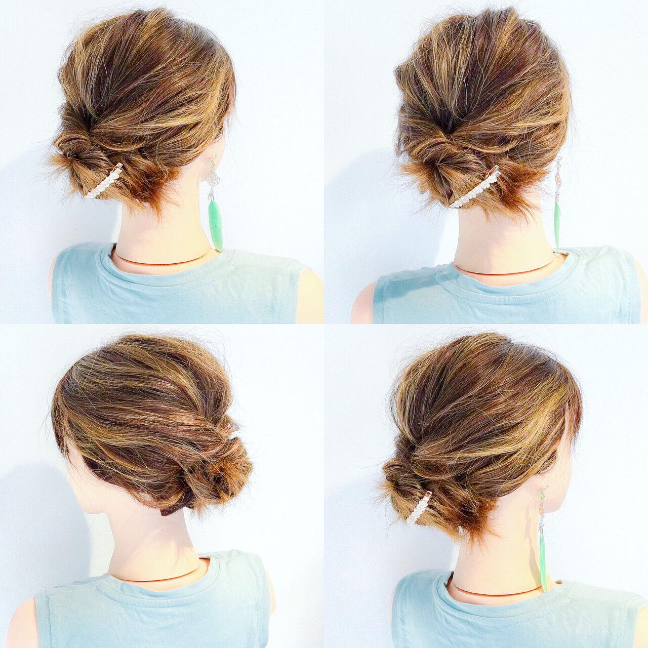 アウトドア 涼しげ ヘアアレンジ 夏ヘアスタイルや髪型の写真・画像