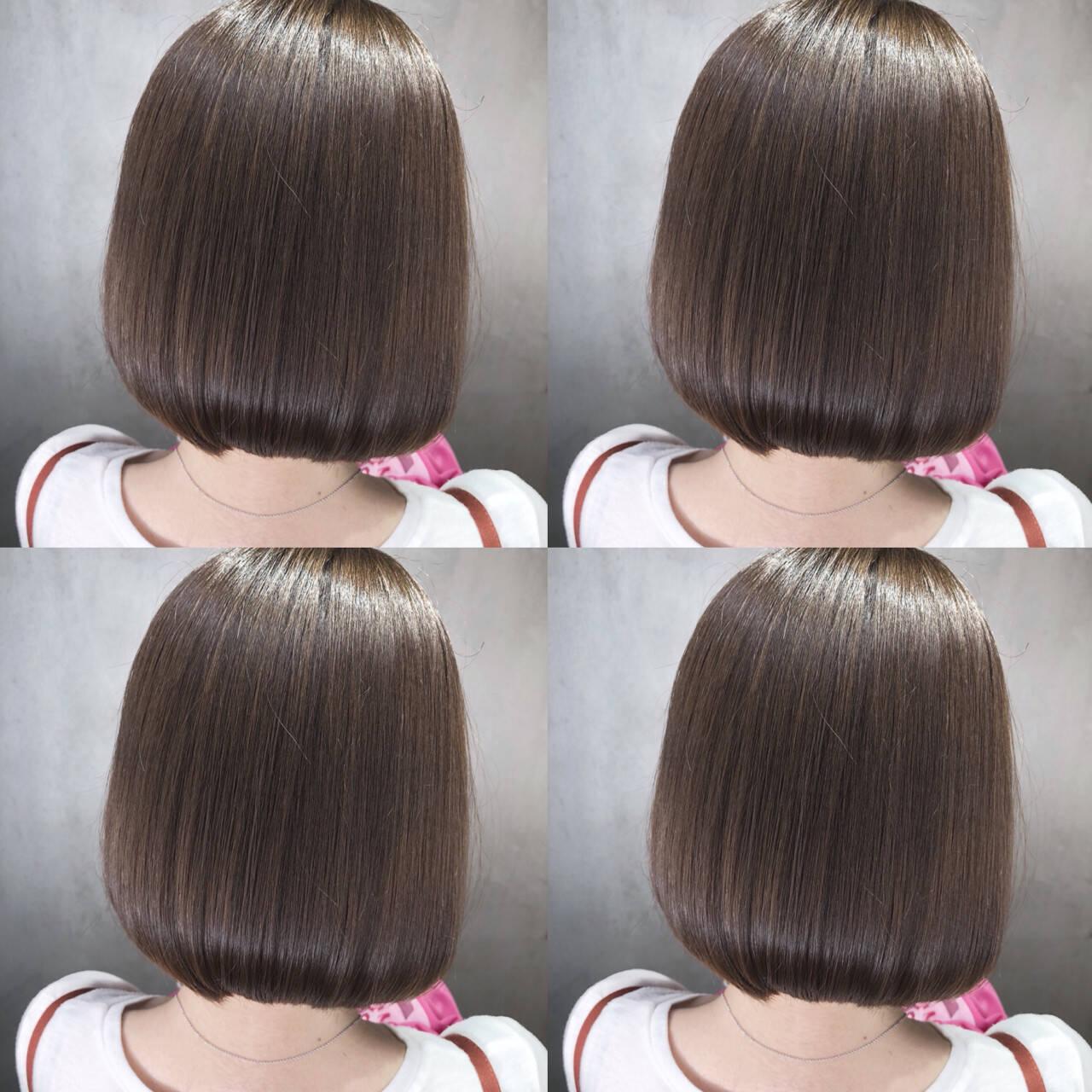 ナチュラル 透明感 ボブ デートヘアスタイルや髪型の写真・画像