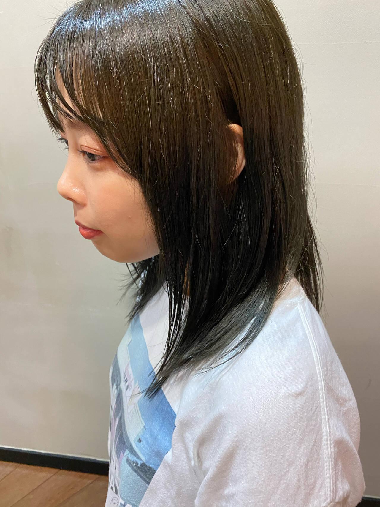 オリーブブラウン オリーブアッシュ オリーブグレージュ オリーブベージュヘアスタイルや髪型の写真・画像