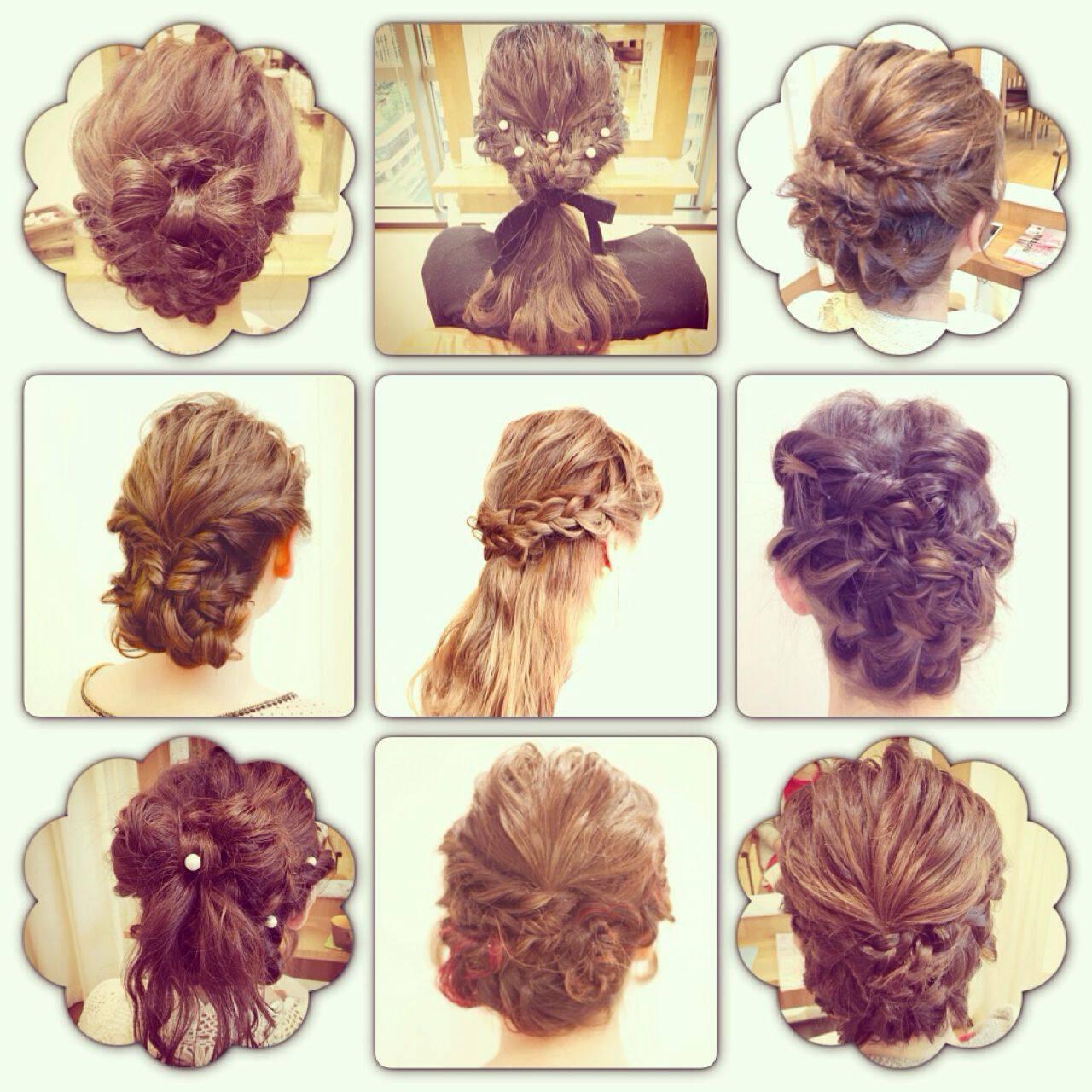 ナチュラル ヘアアレンジ 波ウェーブヘアスタイルや髪型の写真・画像