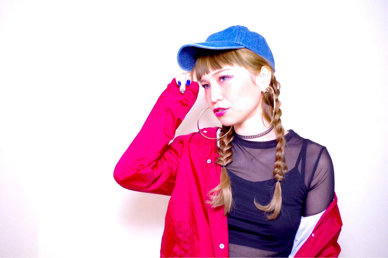 ヘアアレンジ ショート ストリート 簡単ヘアアレンジヘアスタイルや髪型の写真・画像