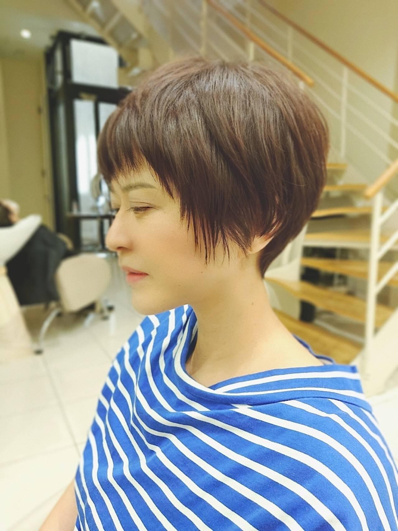 ハイライト ナチュラル ベリーショート ショートヘアスタイルや髪型の写真・画像