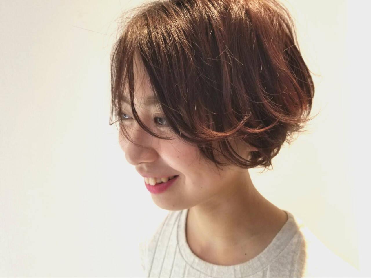 透明感 イルミナカラー ハンサムショート アディクシーカラーヘアスタイルや髪型の写真・画像