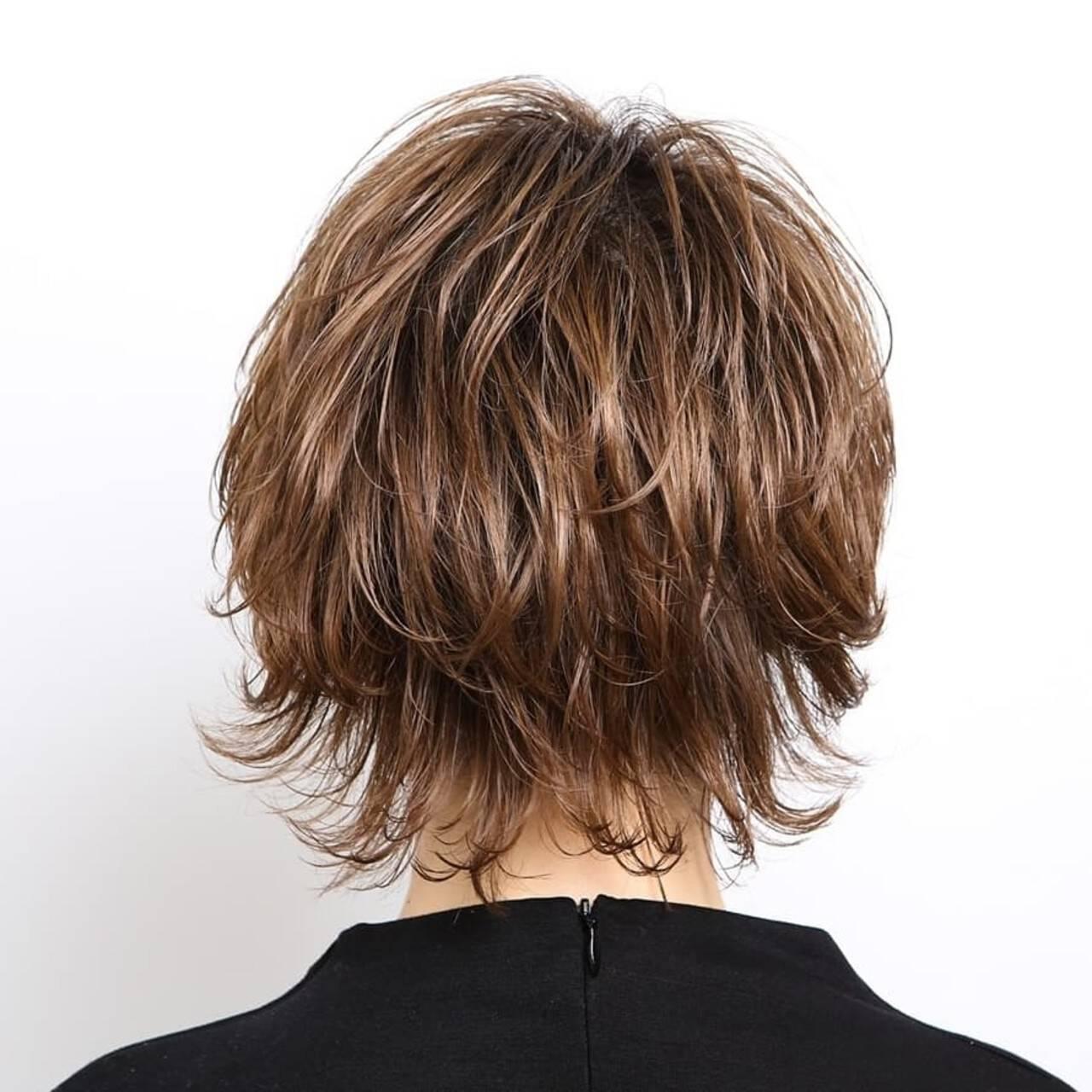 ナチュラル ウルフカット ショート 阿藤俊也ヘアスタイルや髪型の写真・画像