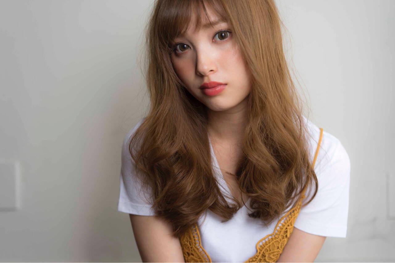 ゆるふわ 大人かわいい ストリート シースルーバングヘアスタイルや髪型の写真・画像
